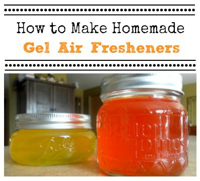 Step-by-step instructions for making your own easy DIY gel air fresheners. Make in all your favorite scents!