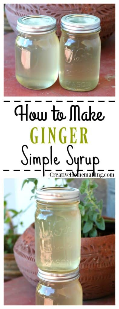 How make an easy ginger simple syrup to refrigerate or can to make homemade ginger ale.