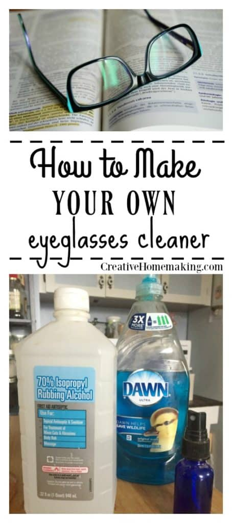Why buy expensive store-bought eyeglasses cleaning solution when you can make your own from a few simple ingredients you already have?