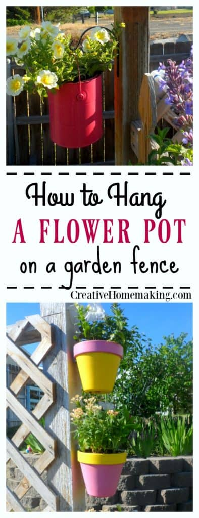 Creative ideas for decorating your backyard fence with DIY flower and herb planters.