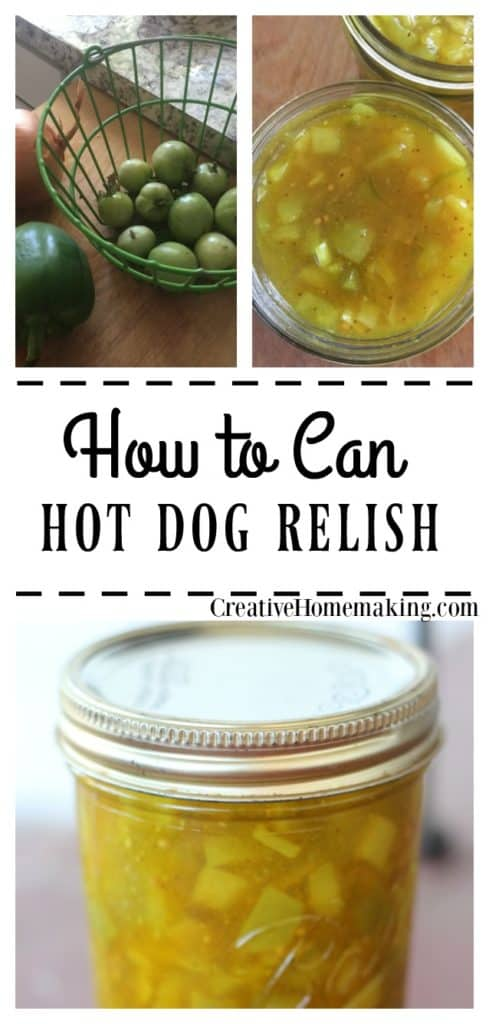 Canning hot dog relish, there are many relish recipes out there, but this green tomato relish is really good and is easy to make and can.