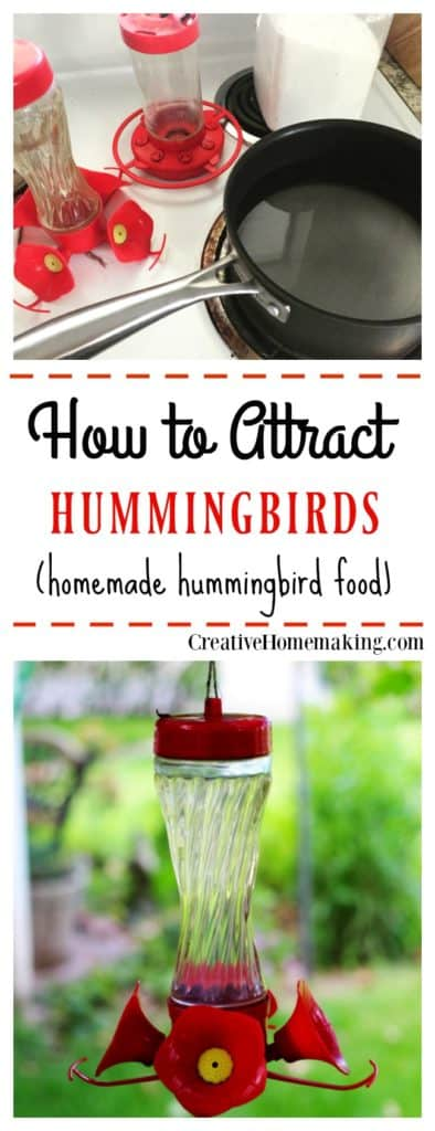 How to make your own hummingbird food to feed the hummingbirds in your garden.
