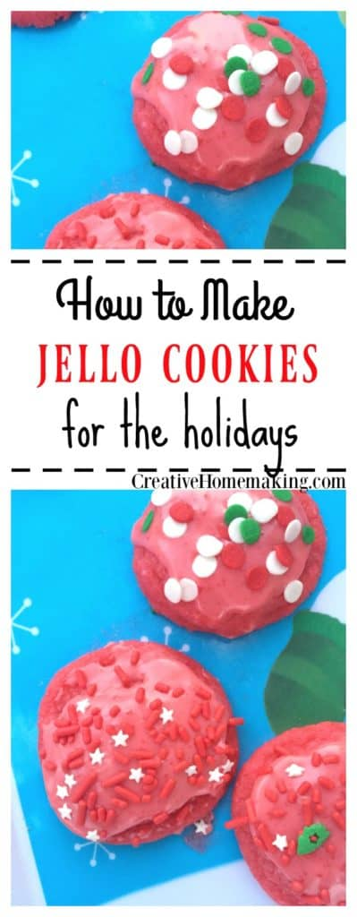 These Jello cookies are quick and easy to make for Christmas or any time.