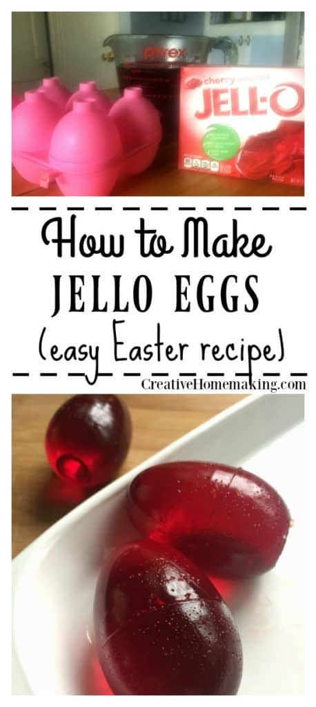 Fun, jiggly jello Easter eggs to make for your kids or grandkids Easter.