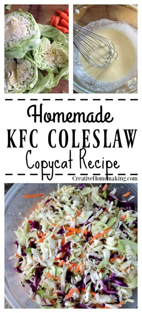 Easy homemade coleslaw recipe! Learn the secret to making great tasting coleslaw just like KFC's.