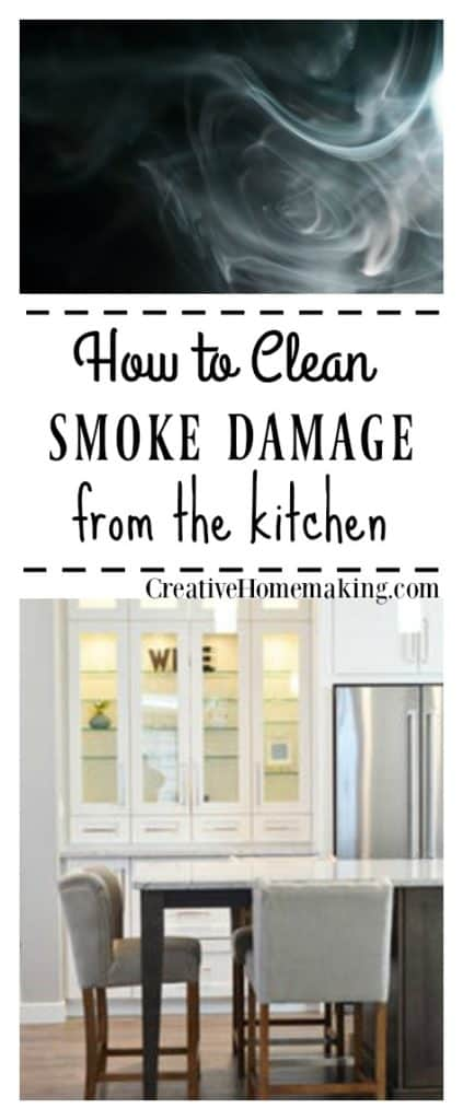 Cleaning kitchen smoke damage. Expert tips to reduce the appearance and odor of smoke damage in your kitchen.