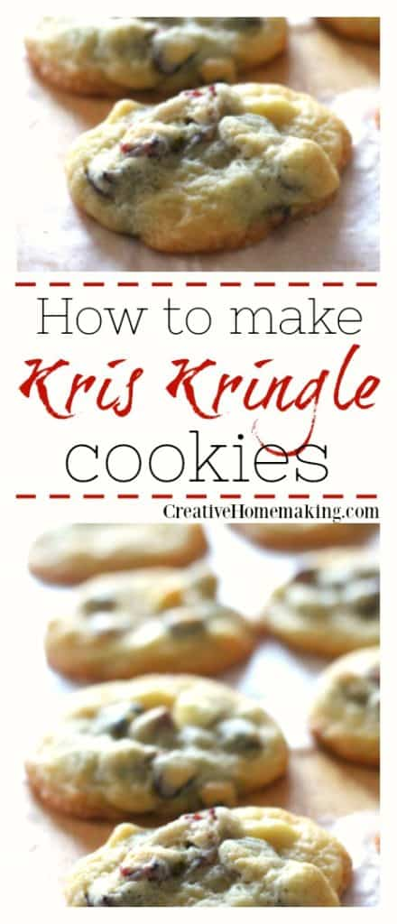 These Kris Kringle cookies are really easy to make and great to give away as gifts for the holidays. Share them at a Christmas cookie exchange!