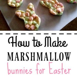 These fun marshmallow bunnies are a fun and easy treat to make for Easter.