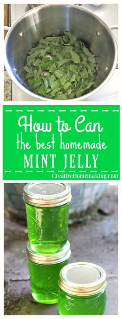 Easy mint jelly canning recipe. This mint jelly is very easy to make and has a wonderfully delicate mint flavor.