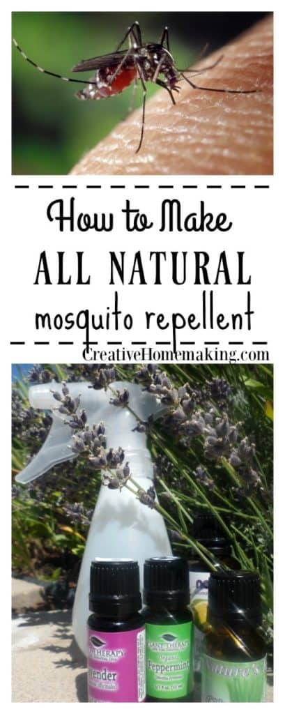 How to make homemade DIY mosquito repellent spray with essential oils to apply to your skin during summer months.