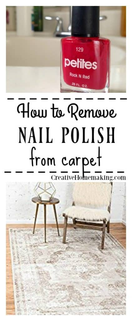 If you find yourself with bright red nail polish spilled on your favorite carpet, don't panic! Here are many expert tips for removing nail polish from carpet.