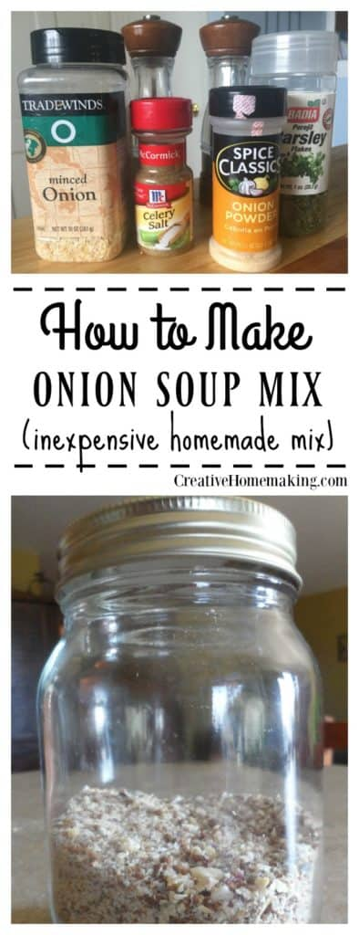 You can make your own homemade onion soup mix like Liptons for pot roast, pork chops, meatloaf, casseroles, soup, or dip with just a couple easy ingredients.
