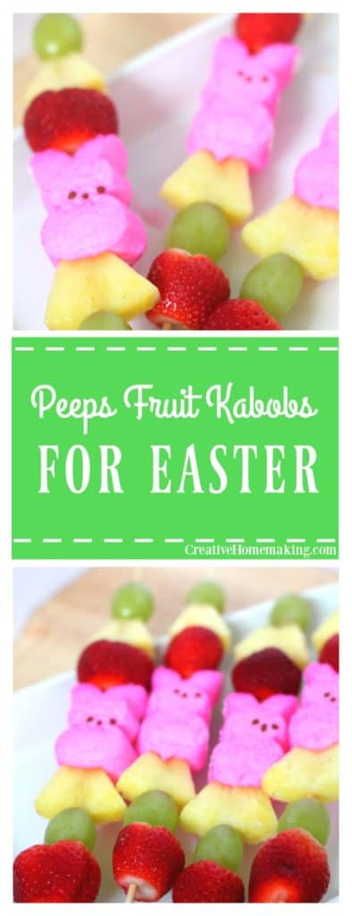 These Peeps fruit kabobs will be a colorful addition to your Easter table.