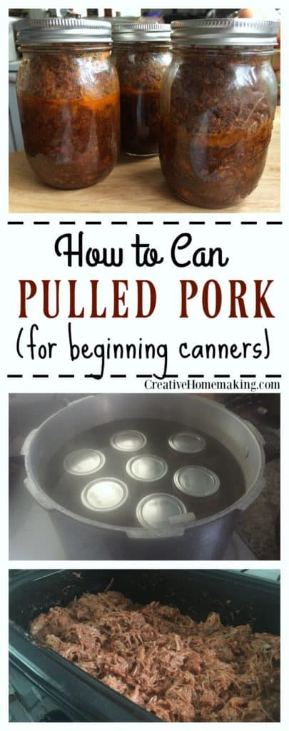 Canning pulled pork. How to make pulled pork to can and put in the pantry for a year or more.