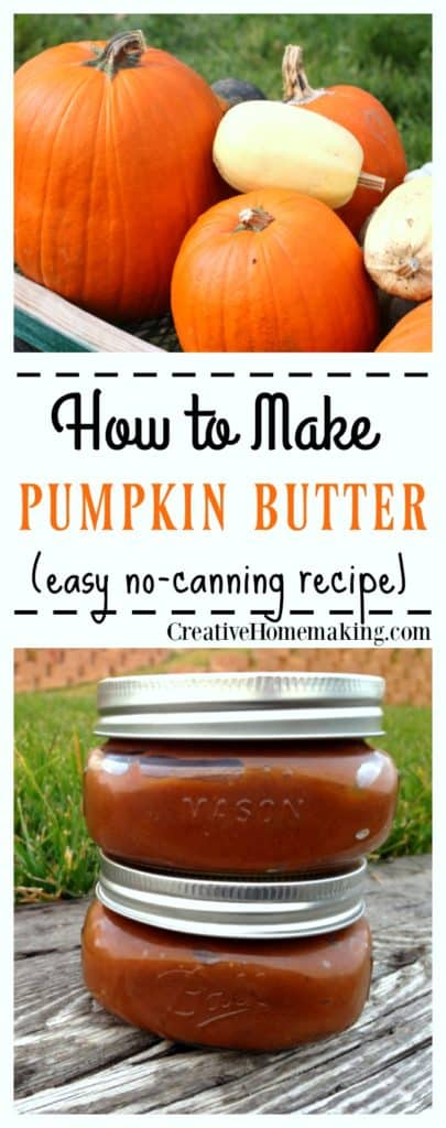 Easy recipe for homemade pumpkin butter. Keep it for yourself or give it away as a gift during the holiday season.