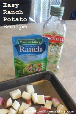 These ranch potatoes make a great easy side dish and only require three ingredients to make.