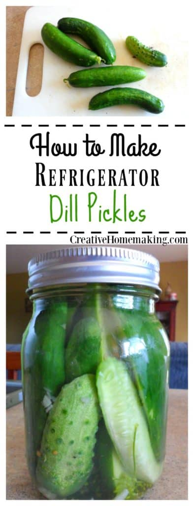 Homemade refrigerator dill pickles that taste just like Claussen dill pickles.