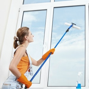 Expert cleaning tips for removing hard water stains or marks from outdoor windows.