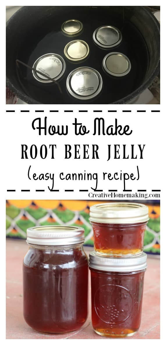 Easy recipe for canning root beer jelly. Easy recipe for beginning canners.