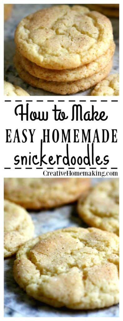 Easy, inexpensive recipe for an old-fashioned cookie favorite--snickerdoodles!