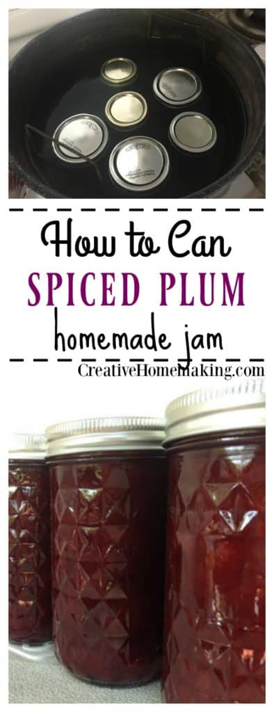 Easy recipe for canning spiced plum jam.