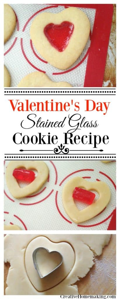 These pretty stained glass heart cookies are a fun treat to make for Valentine's Day.