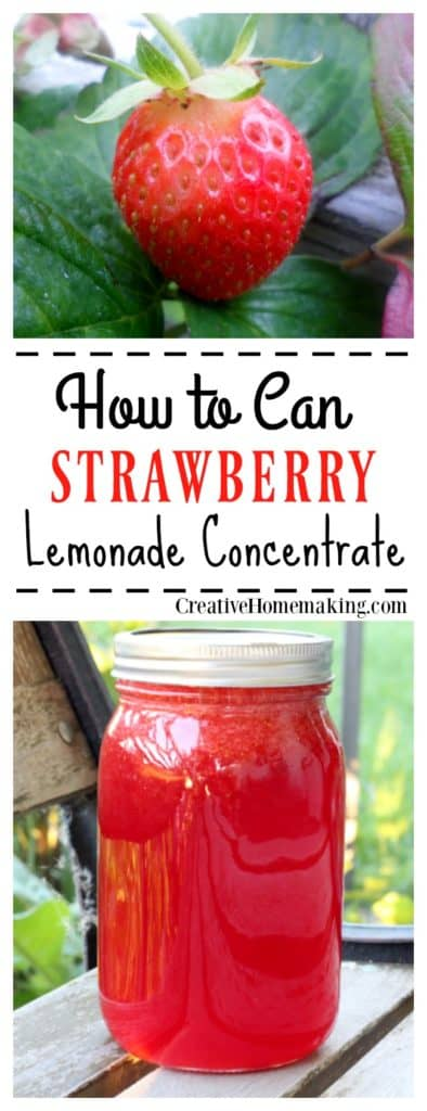Canning strawberry lemonade concentrate. How to make fresh strawberry lemonade concentrate now to enjoy all fall and winter.