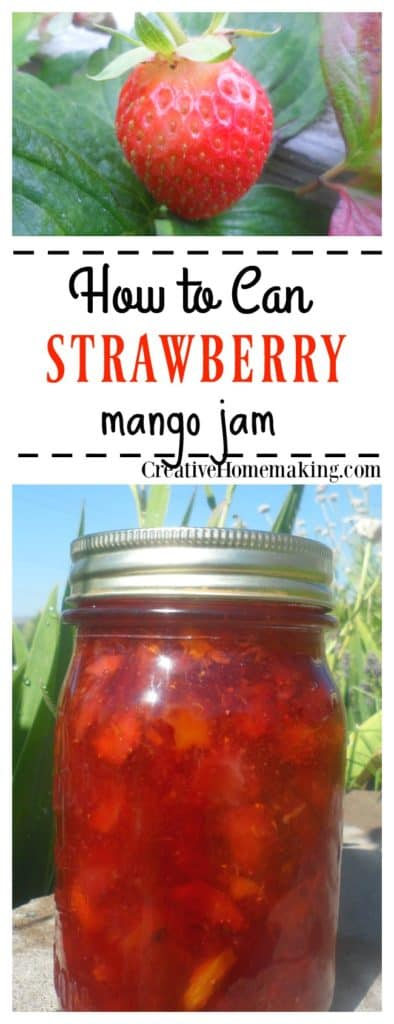 If you are looking for a new strawberry jam recipe, try this delicious strawberry mango jam canning recipe.