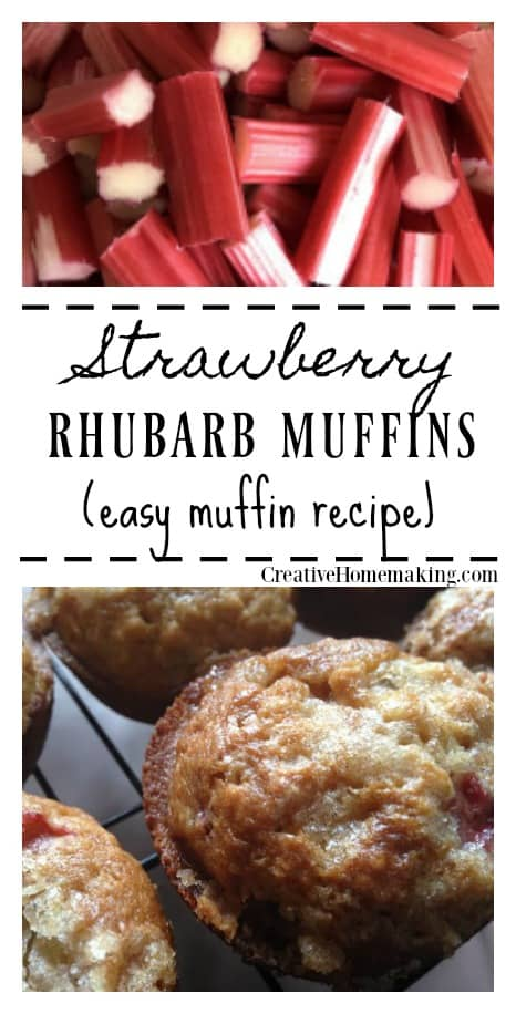 Extra rhubarb you need to use up? Try these easy delicious strawberry rhubarb muffins.