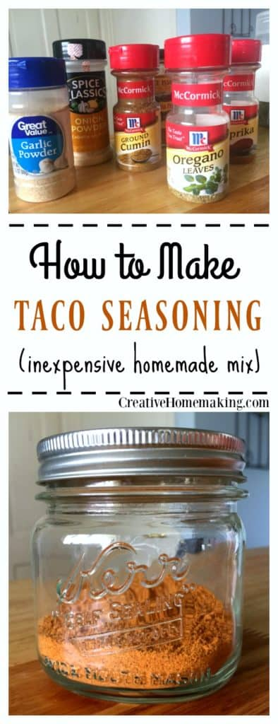 Taco seasoning mix that is inexpensive and easy to make from ingredients you already have on hand. No additives or preservatives!