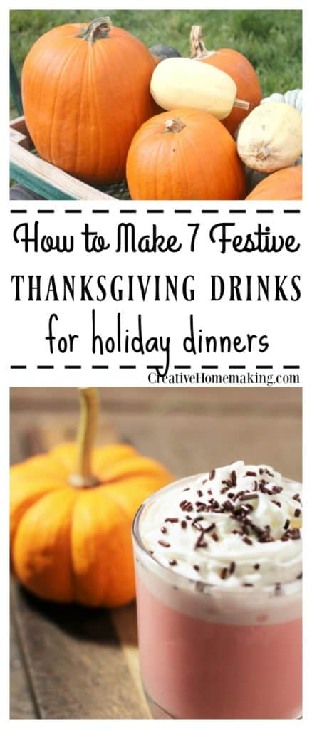 Festive drinks to serve children at the Thanksgiving table.
