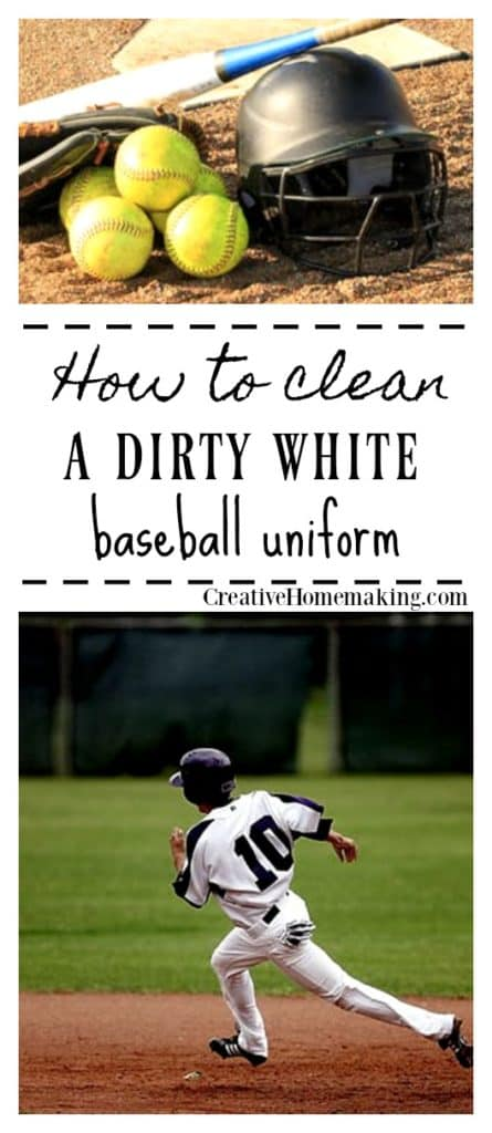 How to clean a white baseball uniform or pants and get them white again.