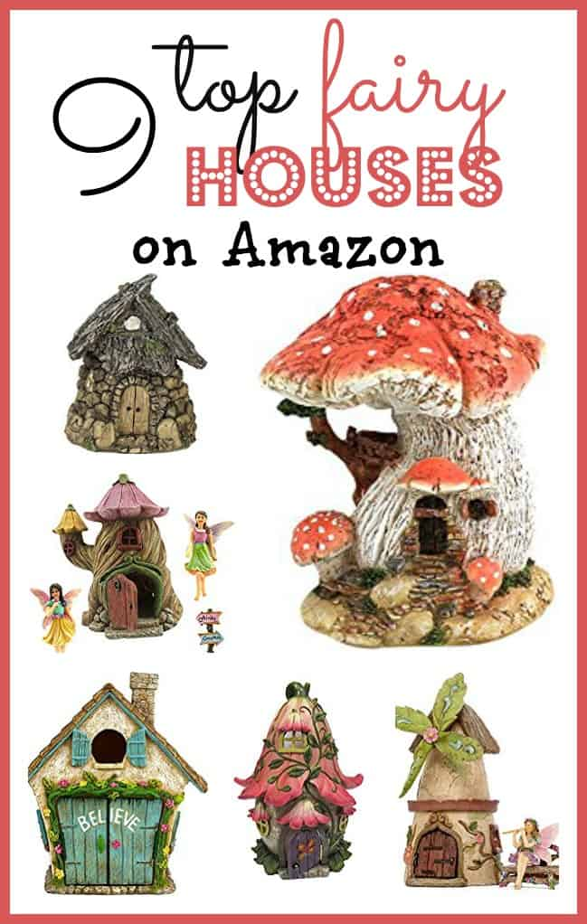 Top 9 fairy garden houses that you can order today from Amazon to accessorize your fairy garden or miniature garden.