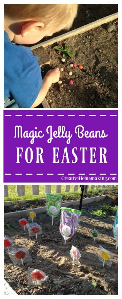 Surprise your kids this Easter with magic jelly beans that grow into lollipops!