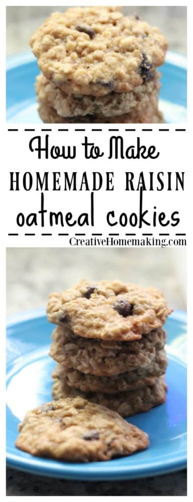 Easy oatmeal raisin cookie recipe. Oatmeal raisin cookies have been around a long time, but they are still a family favorite!
