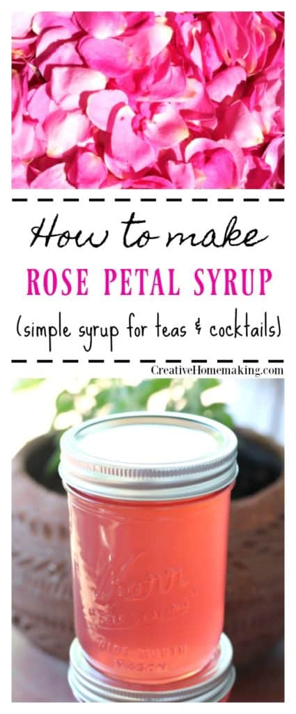How to make rose simple syrup. Easy recipe for canning rose syrup.