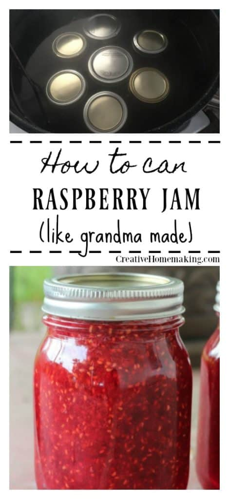 Recipe for canning raspberry jam. Easy recipe for beginning canners. Learn how to make raspberry jam just like grandma made!