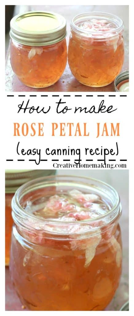 Easy recipe for canning rose petal jam. Learn how to make rose petal jam from wild roses.