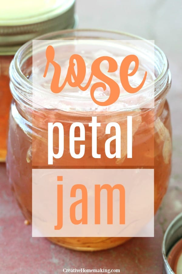 Jar of rose petal jam