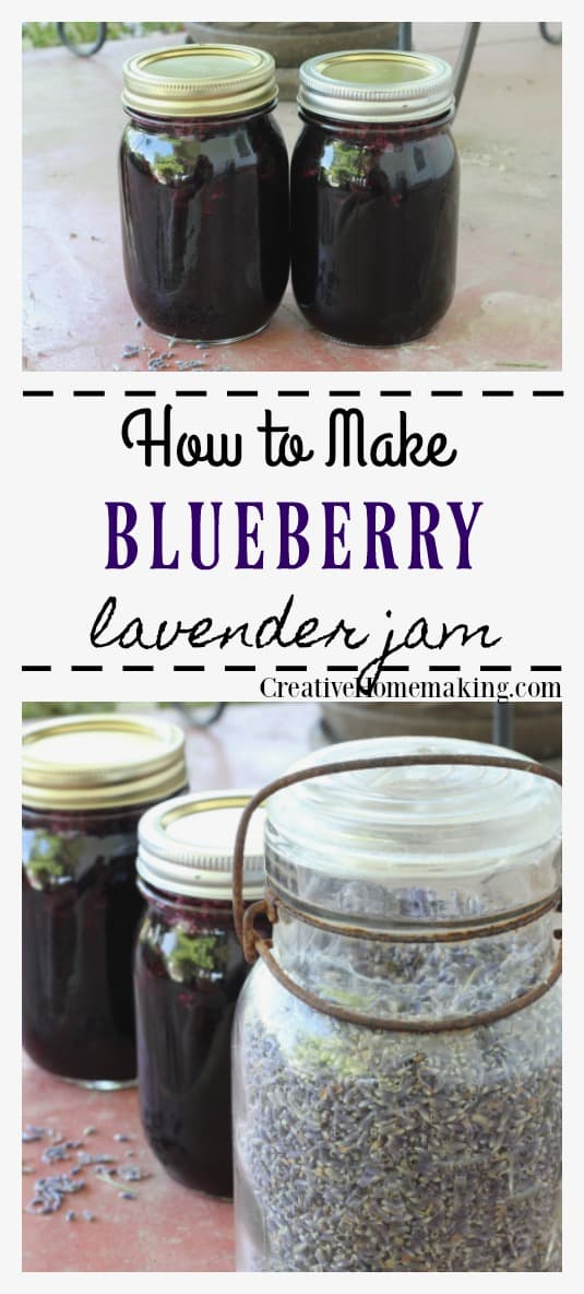 Easy recipe for canning blueberry lavender jam. Easy recipe for beginning canners. This recipe is the perfect blueberry jam with just a hint of lavender.