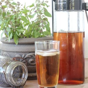 This lavender iced tea is a refreshing summer iced tea made from dried lavender.