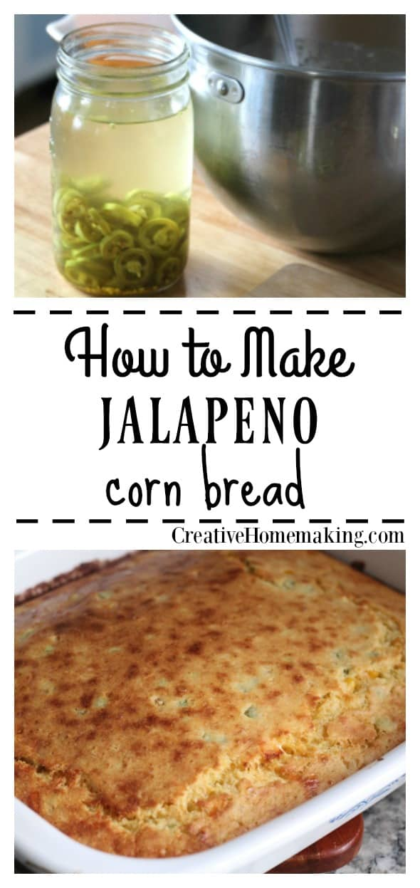 Easy recipe for jalapeno corn bread to enjoy with fall and winter soups and stews.