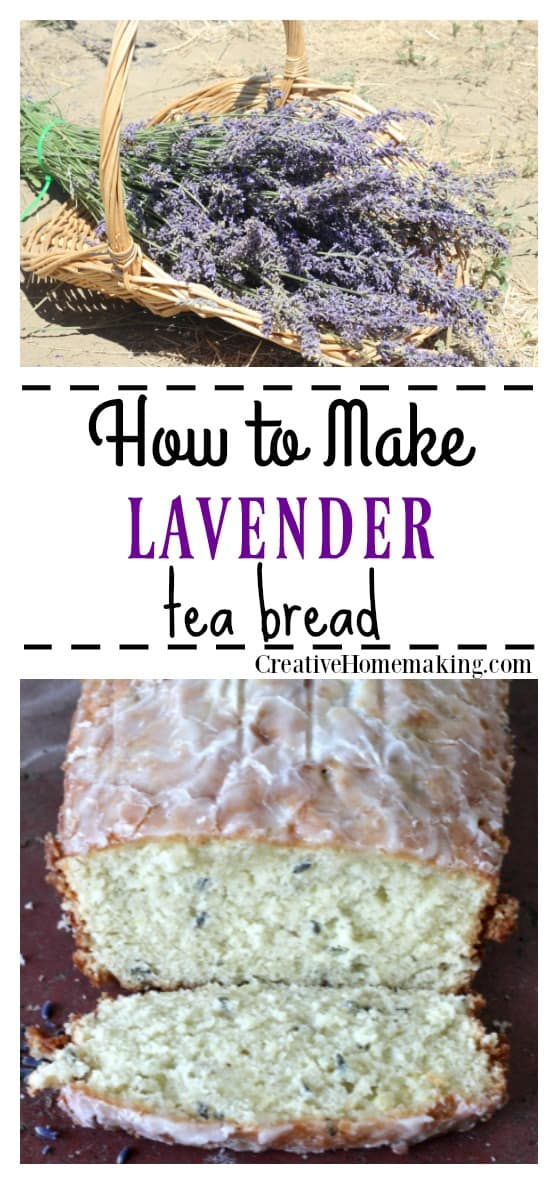 Easy recipe for lavender tea bread, a delicious quick bread to make for summer tea parties.