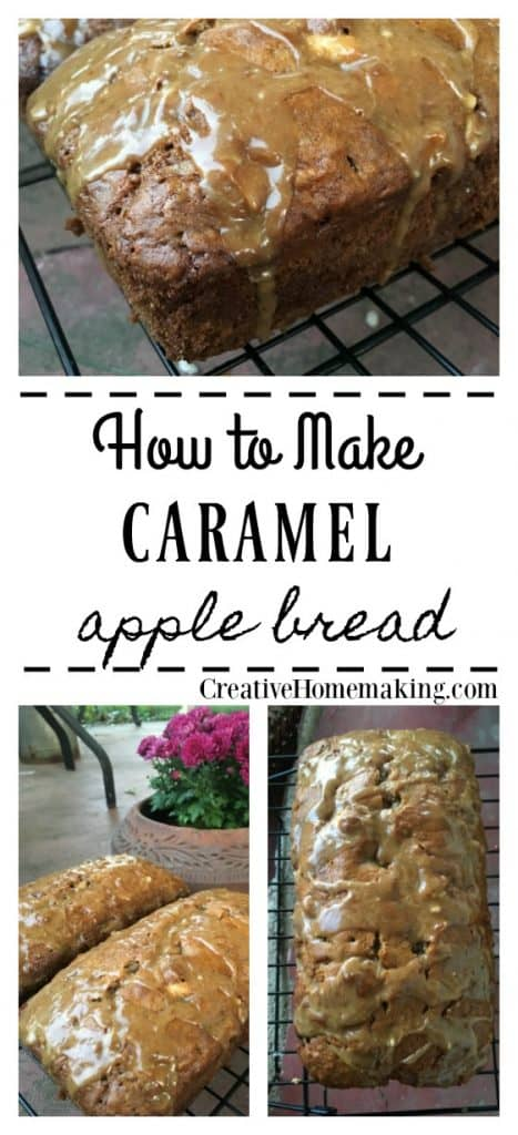 Easy recipe for homemade caramel apple bread. One of my favorite fall bread recipes!