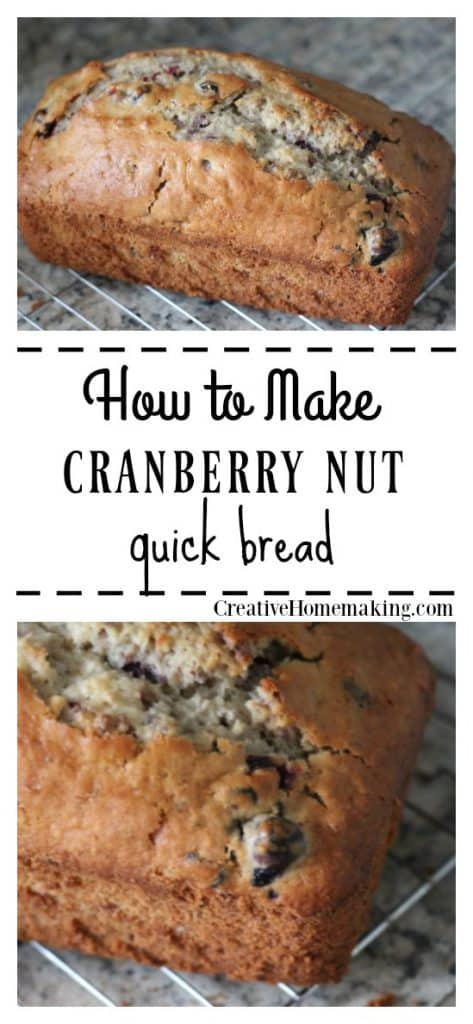Easy cranberry nut bread recipe to make for fall and Thanksgiving. One of my favorite fall recipes!
