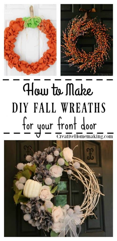 Easy DIY fall wreaths for the front door.
