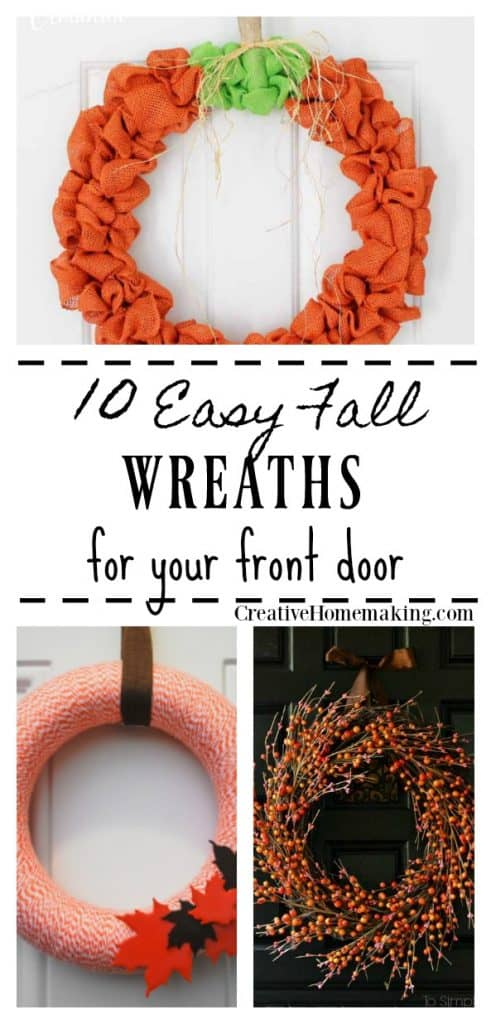 10 DIY fall wreaths to hang on your front door. Easy fall decor ideas for the home in 2 hours or less!