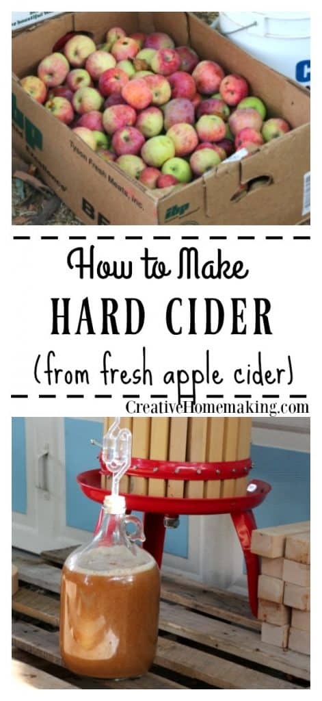 Easy hard cider recipe that anyone can make. Learn how to make homemade hard cider from fresh apple cider. One of my favorite fall recipes!