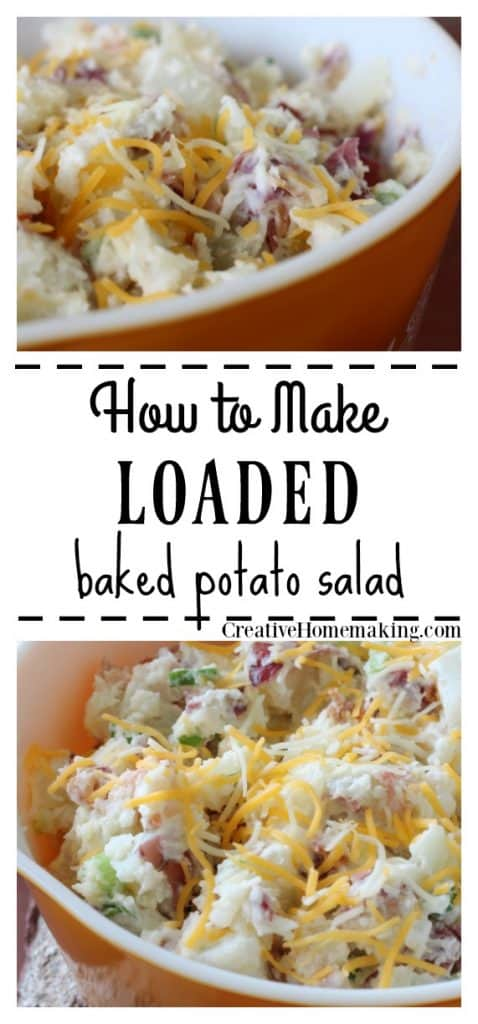 Easy recipe for loaded baked potato salad. One of my favorite potato salad recipes.