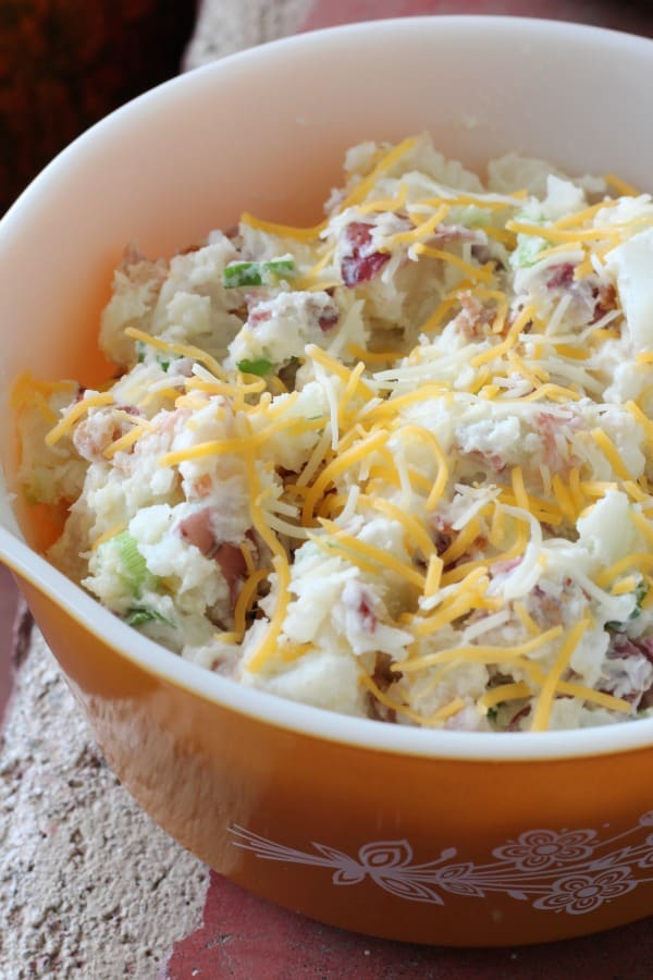 Easy recipe for loaded baked potato salad. One of my favorite potato salad recipes!